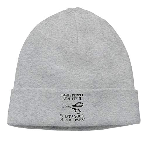 Eleanore Charles I Make People Beautiful Gift for Hairdresser Hair Beanie Cap Winter Warm Knit Skull Hat for Men Women ()