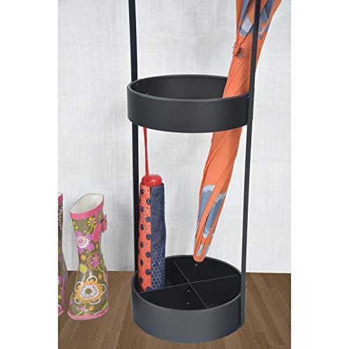 Industrial Design con Stile Minimalista con 4 Spazi per Ombrelloni Hogar y Mas Portaombrelli Colore Nero Realizzato in Metallo Casa e