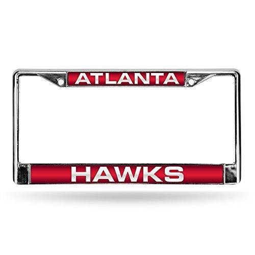 NBA Atlanta Hawks Laser-Cut Chrome Auto License Plate Frame