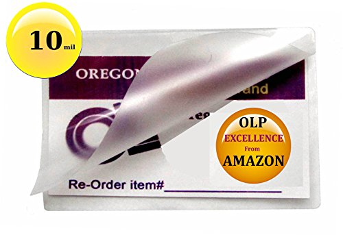 Qty 500 10 Mil Key Card Laminating Pouches 2-1/2 x 3-7/8 Laminator Sleeves
