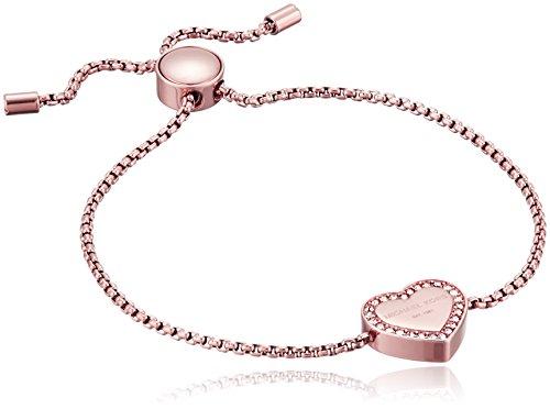 Michael Kors Logo Rose Gold-Tone Slider Bangle Bracelet
