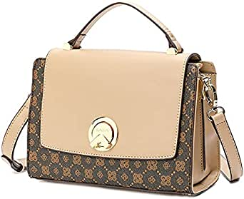 حقيبة يد نسائية من SAGA بلون بني / جملي