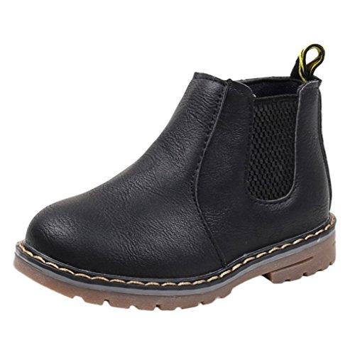 Britische Lässige Drucken Und Martin TPulling Mädchen Rutschfeste Und Stiefel Herbst Lederstiefel Schuhe Schwarz Kinder Winter Junge Mode xqA76