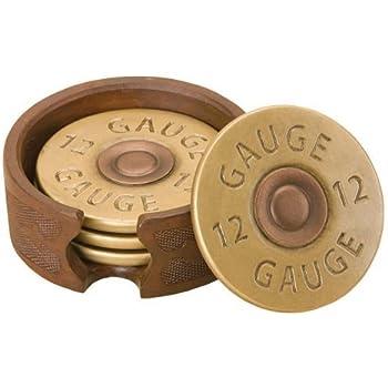 antler gauges amazoncom pine ridge 12 gauge shotgun shell coaster set holder