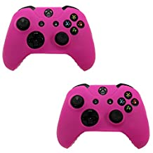 HDE 2 Pack Xbox One Controller Skin Protective Silicone Gel Rubber Grip Cover for Wireless Gaming Controllers (Pink)