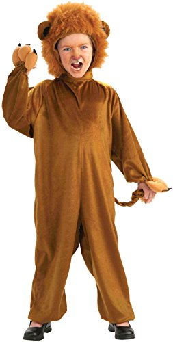 Lion Costume Girl (Forum Novelties Cozy Fleece Lion Costume, Child Medium)