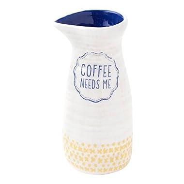 Hallmark Home Clever Kitchen Everyday Collection, Stoneware  Coffee Needs Me  Creamer