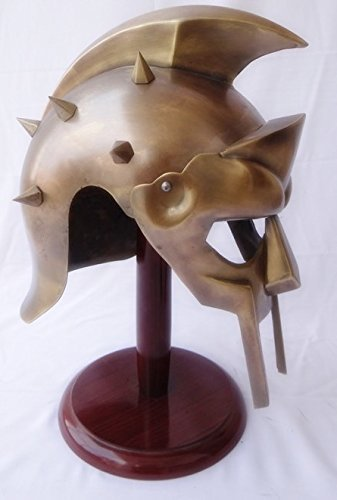Gladiator Helmet Replica - NAUTICALMART Gladiator Maximus Decimus Armor Helmet Gladiator Movie Prop Replica Without Stand
