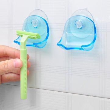 Pack Razor Holder Bathroom Storage & Organisation - Suction Cup Razor Holder Storage Rack Wall Hook Hangers Towel Sucker Bathroom Accessories - Razors Removable Organizer Leaf Blade Pcs