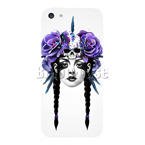 COQUE PROTECTION TELEPHONE IPHONE 5C - INDIENNE TRESSE FLEURS