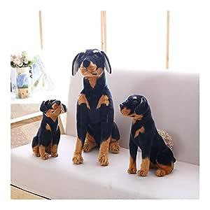 Animal Perro de juguete de felpa Perro Negro realista simulación ...