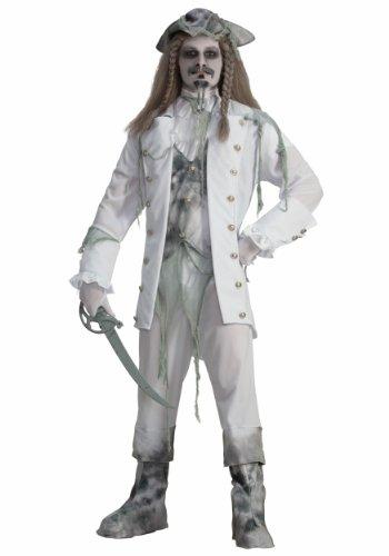 Forum Novelties Men's Ghost Captain Costume, White/Gray, One Size