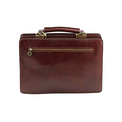 Tuscany Leather - Tania - Borsa a mano in pelle da donna - Misura grande Rosso - TL141269/4 Marrone