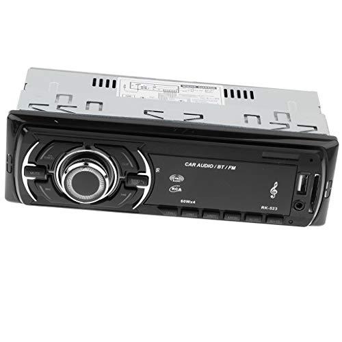 P Prettyia Single Din Car Stereo Reveiver with: Amazon.co.uk: Electronics