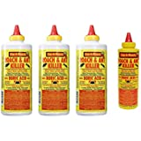 Boric Acid Roach & Ant Killer - Pest Control 1 LB Bottle (454 Grams) - 3 Pack + Bonus Bottle
