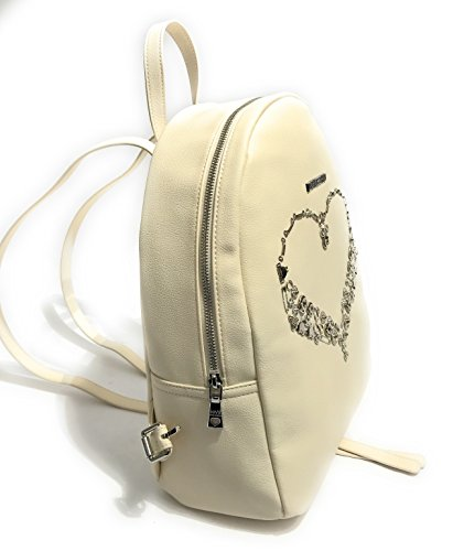 Off Backpack Moschino Ivory Women's Love 1013 Media white ral zqaxSAAOw