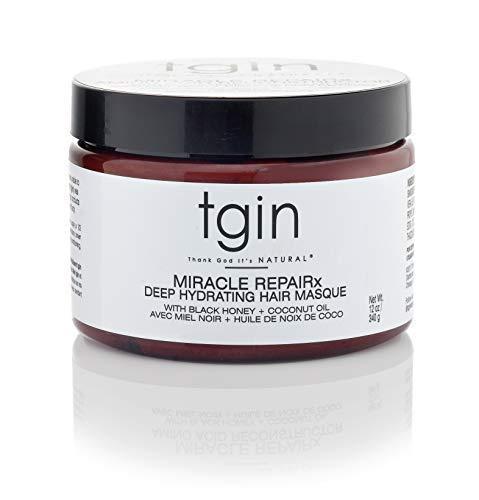 tgin Miracle Repairx Deep Hydrating Hair Masque For Natural Hair - Dry Hair - Curly Hair - 12 oz ()