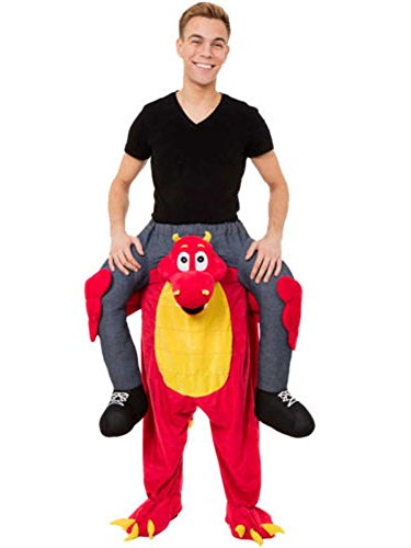 Halloween Ride On Riding Shoulder Adult Baby Beer Guy Christmas Halloween Costume (Red Dragon) - Piggy Back Costume Baby