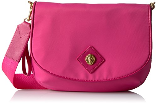 Anne Klein Angelina Nylon Cross Body, Hot Pink