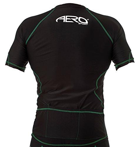 Sport hombre Aero peque visibilidad alta a amarilla negra de para Camisa ciclismo 1ntxfX