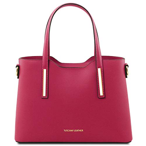 Price comparison product image Tuscany Leather Olimpia Leather tote - Small size Magenta
