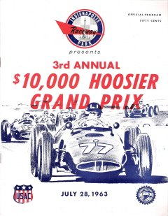 1963 Hoosier Grand Prix Official Program Indianapolis Raceway Park USAC (3rd Annual)