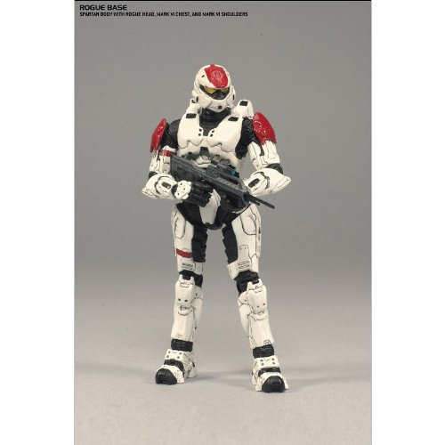 - Halo 3 Collection McFarlane Toys Deluxe Action Figure Boxed Set Rogue Armor Pack WHITE Spartan Soldier Rogue, CQB, Scout & Hayabusa