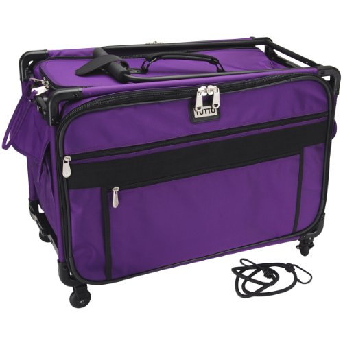 Tutto Machine On Wheels Case 23''X14-1/4''X14-Purple by Tutto