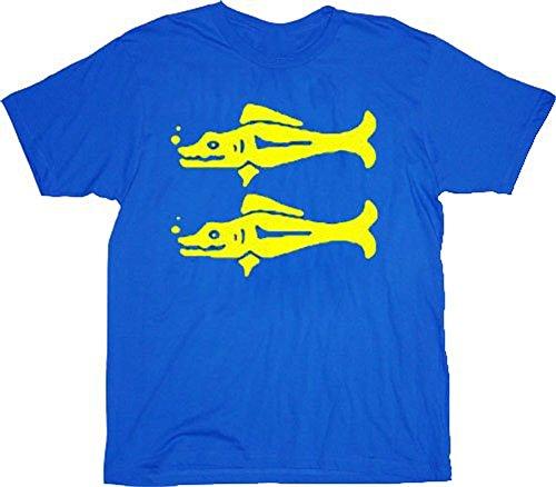 Legends of the Hidden Temple Blue Barracudas Adult Costume T-shirt Tee -