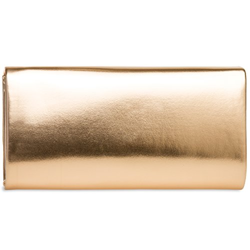 Rose Evening Baguette TA404 Bag Clutch CASPAR Elegant Style Gold Ladies xnvHWn8qwR