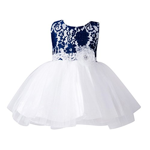 Jlong Baby Girls Vintage Floral Lace Dress Wedding - Vintage Pageant Dress