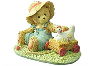 Cherished Teddies Henry oso con pollo estatuilla 916420