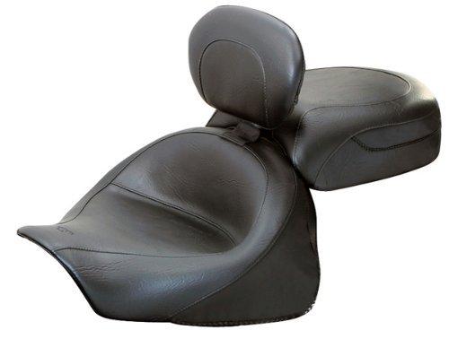 Mustang 79351 2 pc Vintage Seat w/ Backrest for Kawasaki Vulcan & Nomad (79351) (Kawasaki Mustang Seat)