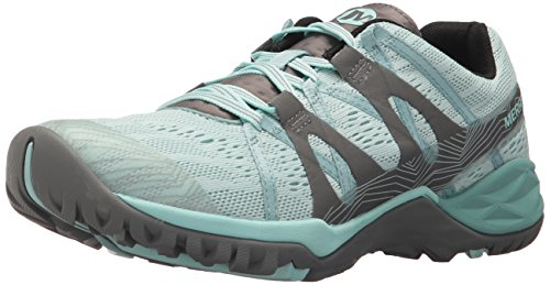Merrell Women's Siren Hex Q2 E-Mesh Hiking Boot, Bleached Aqua, 7.5 Medium US (Hiking Mesh Hiking Boots)
