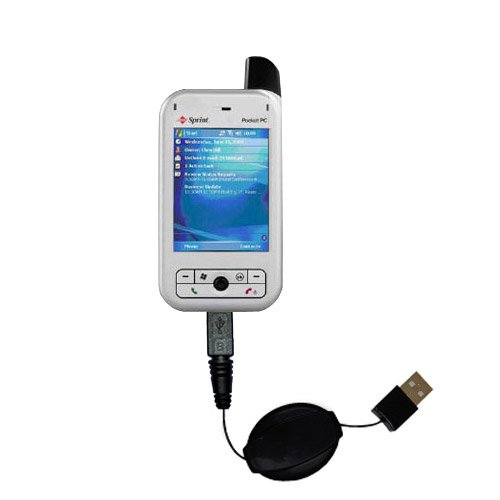 USB Power Port Ready retractable USB charge USB cable wired specifically for the Audiovox PPC 6700 and uses TipExchange
