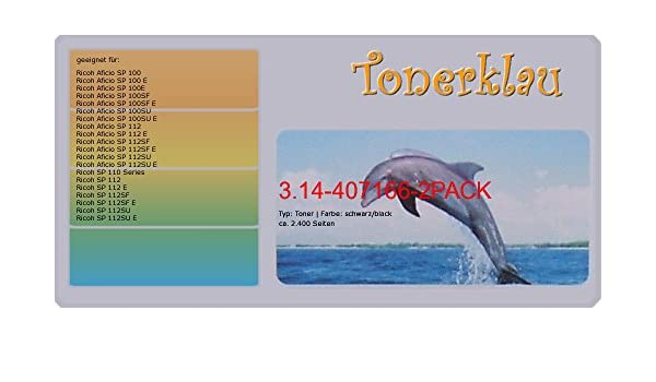 compatible Toner 3.14 - 407166 - 2 Pack para: RICOH Aficio ...