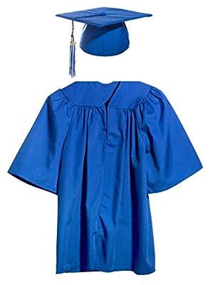 Preschool and Kindergarten Graduation Cap, Gown, Tassel, Charm (Machine Wash)
