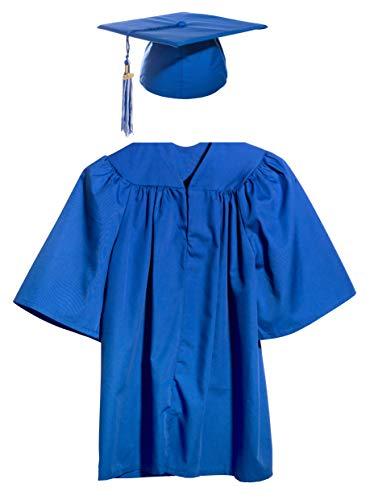 Blue Preschool and Kindergarten Graduation Cap, Gown, Tassel, and Charm - Medium -
