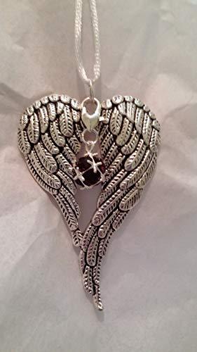 - January Birthstone Angel Wings Memorial Ornament