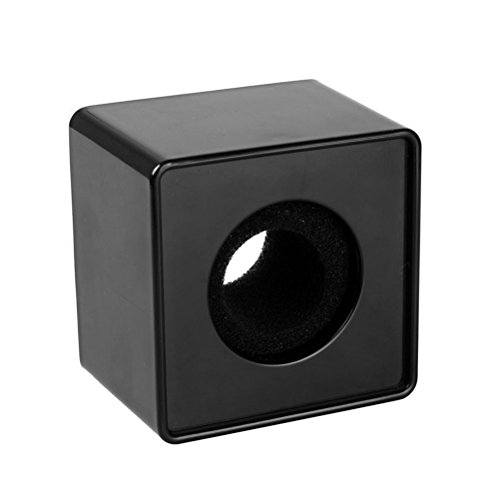 Square Microphone Station Logo Black - 1
