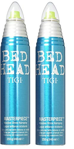 Tigi Bed Head Masterpiece Massive Shine Hairspray - 9.5 Oz (2 PACK) (Best Hairspray For Long Lasting Curls)
