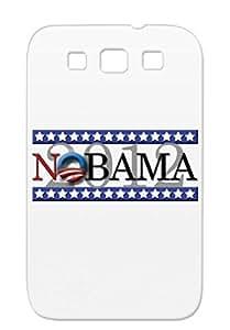 NObama12 Navy Antiobama Obama News Politics Elections Stars Election Logo Nobama 2012 Cover Case For Sumsang Galaxy S3 Dustproof