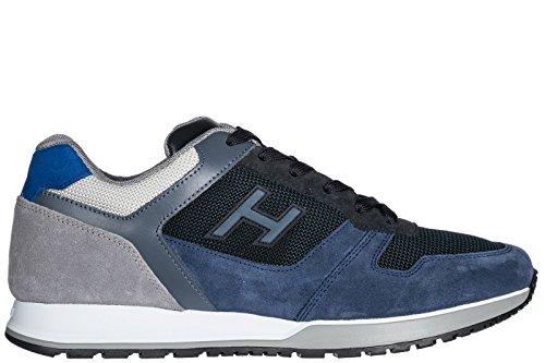 Hogan Scarpe Sneakers Uomo camoscio Nuove h321 Blu