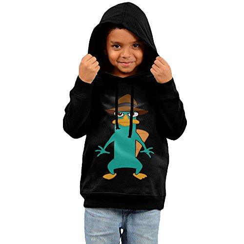 MeMT Perry The Platypus Kid's Hooded Sweatshirt (Phineas And Ferb Agent P Hoodie)