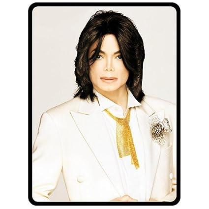 Michael Jackson en traje blanco modelo de ébano de una capa ...