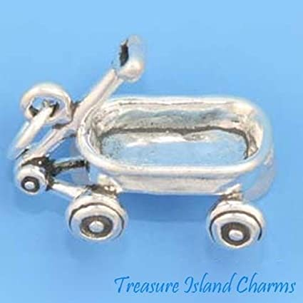 Pendant Charm Kids Childrens Toy Wagon Jewelry Sterling Silver