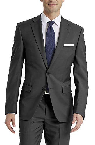 Calvin Klein Men's X-Fit Slim Stretch Suit Separate Blazer (Blazer and Pant), Charcoal, 38 Long
