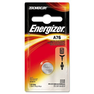 Watch/Electronic Battery, Alkaline, A76, 1.5V, MercFree, Total 72 EA, Sold as 1 Carton