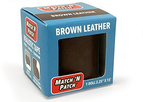 Match 'N Patch Realistic Brown Leather Repair Tape ()