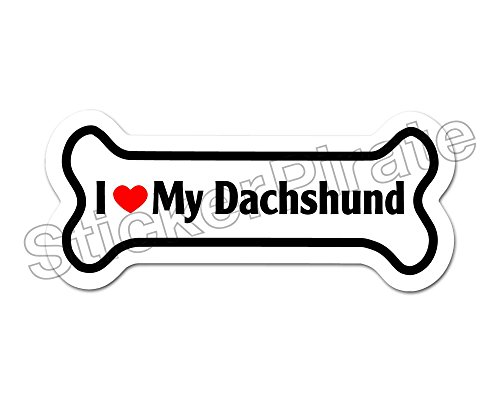 - Dog Bone Magnet I Love My Dachshund Car Truck Locker Magnet